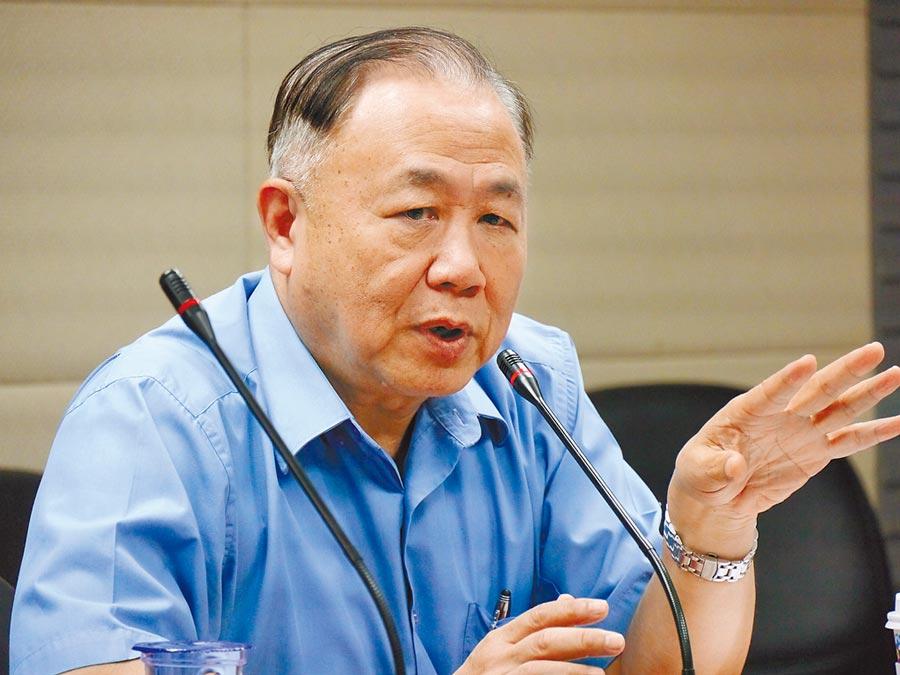國防部前副部長陳永康。(記者張國威攝)
