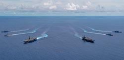美3航母擺陣 南海將升級區域戰爭