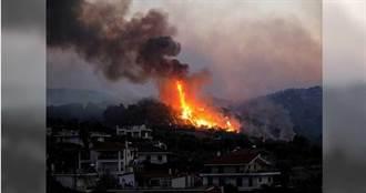 希臘強風助長森林野火蔓延 火勢直逼「軍營火藥庫」沿海村莊急撤