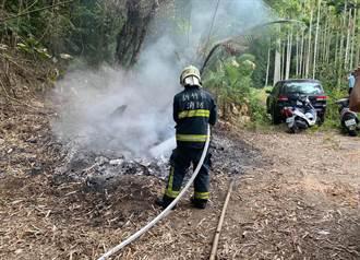 民眾檢舉有人亂燒廢棄物 竹東警按「煙」索驥破獲案