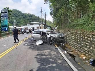 五股汽機車對撞 2人送醫救治