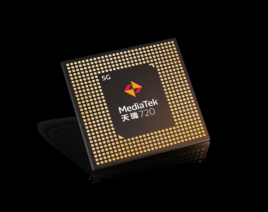 聯發科發表天璣720晶片。(聯發科提供/黃慧雯台北傳真)