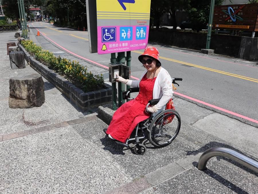 谷關溫泉公園設置無障礙步道。(王文吉攝)