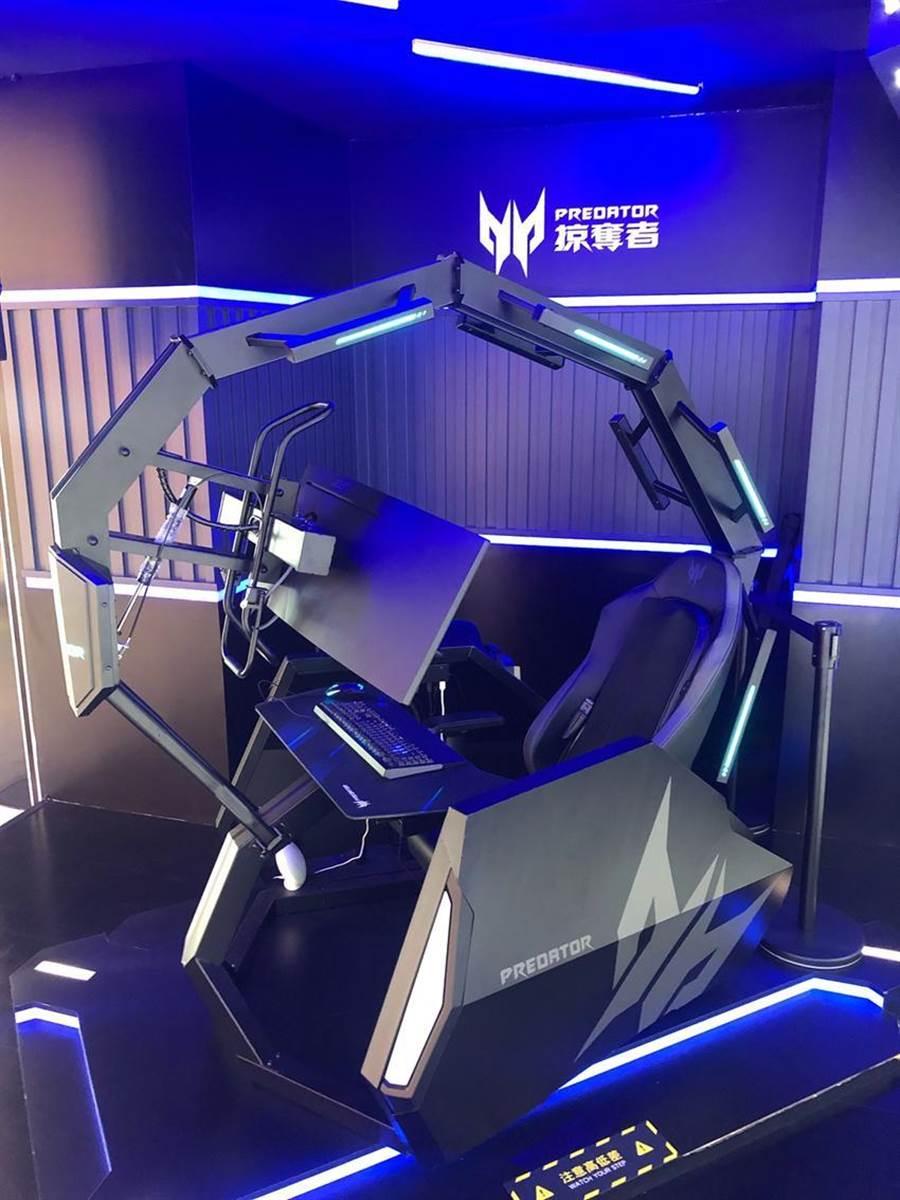 (宏碁品牌旗艦精品館周年慶,全新二代電競座艙Predator Thronos Air首亮相,預計8月開賣。圖/宏碁提供)