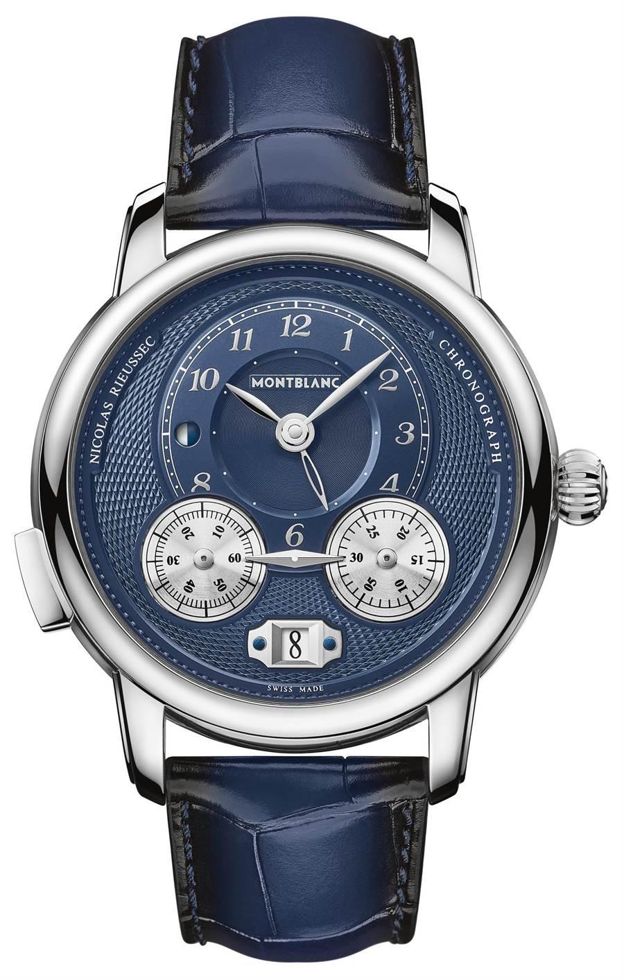 萬寶龍明星傳承系列Nicolas Rieussec計時腕表,25萬7700元。(Montblanc提供)