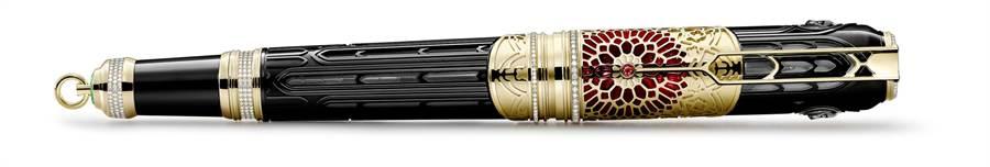 萬寶龍大文豪系列維克多雨果限量款8鋼筆,限量8支,490萬4000元。(Montblanc提供)