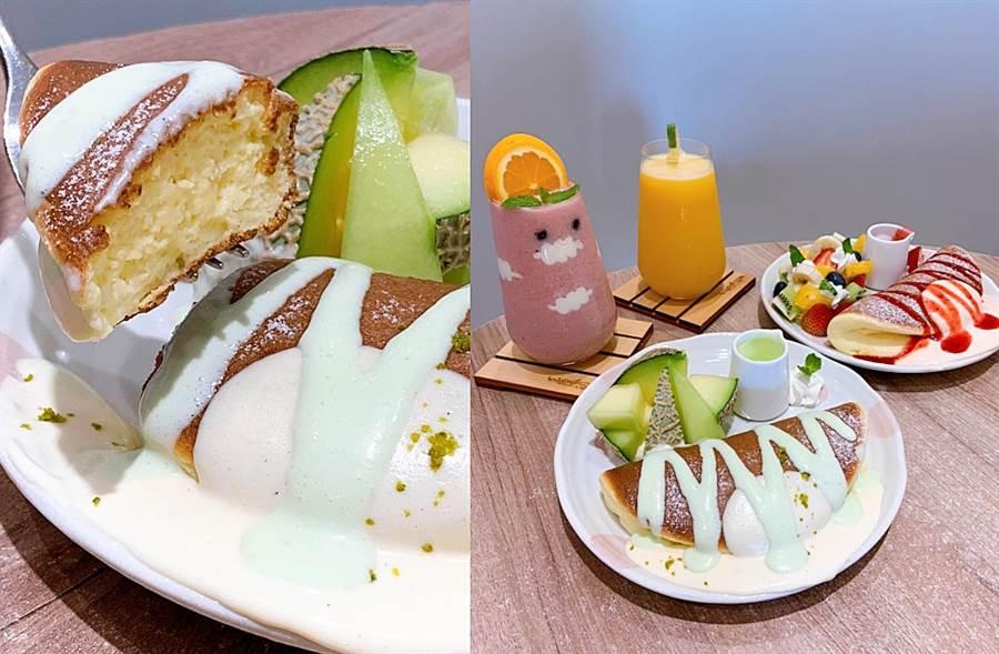 盛夏最強哈密瓜鬆餅駕到!多汁軟綿入口甜蜜大享受(圖/楊婕安攝)