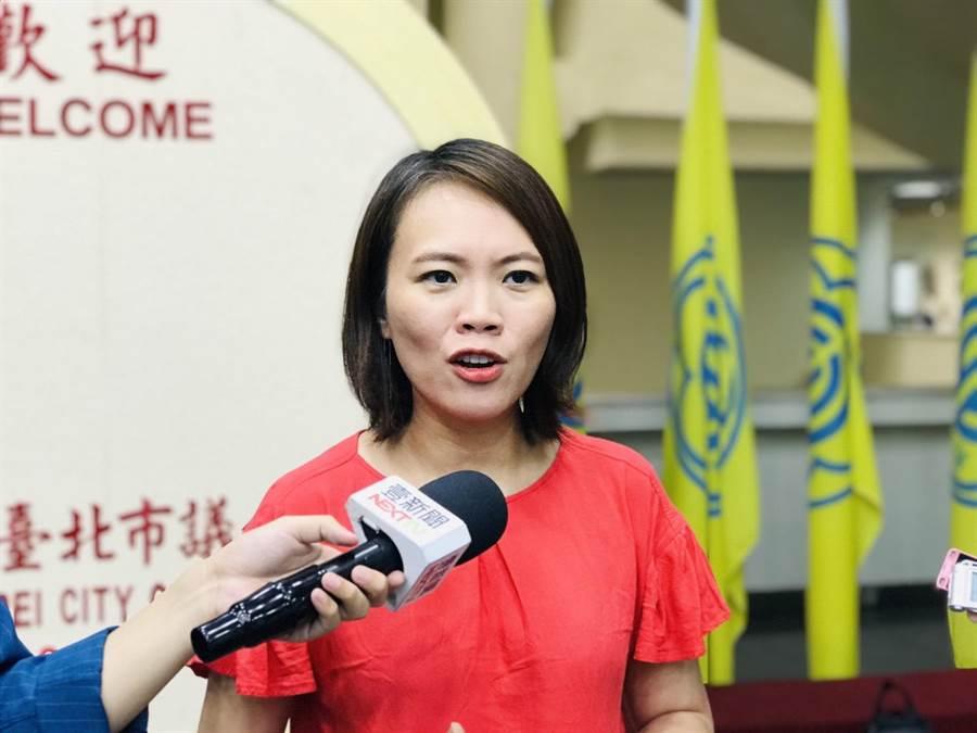 民進黨北市議員簡舒培。(張穎齊攝)