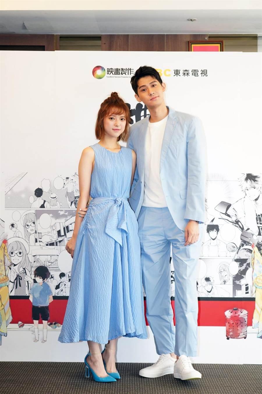 李玉璽和項婕如身高差25公分,在新戲《神之鄉》呈現「最萌CP」。(映畫提供)