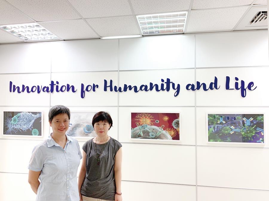 先驅生技由創辦人吳瓊媛(右)及策略長溫國蘭(左)協力共同領軍。圖/利漢民