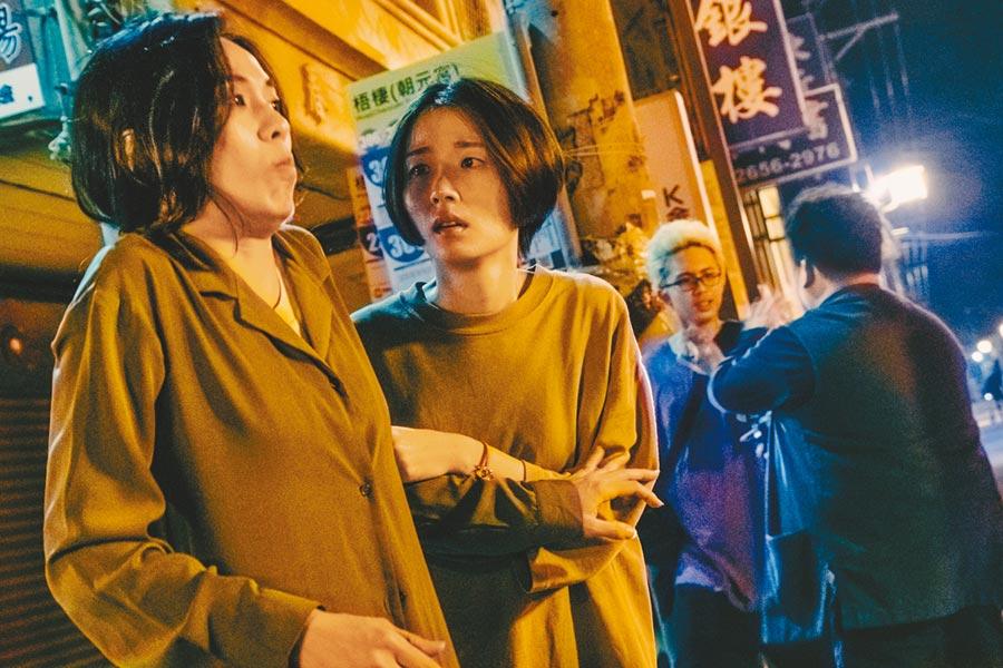 許安植(中)在《馗降:粽邪2》中與陳雪甄(左)飾演的阿姨相依為命。(華影國際提供)