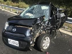 國道1北上6車追撞  2人輕傷無大礙