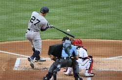 MLB》洋基怪力男敲大聯盟首轟 開幕戰卻因雨裁定