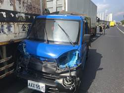國1北向43公里車禍 6車追撞4人受傷