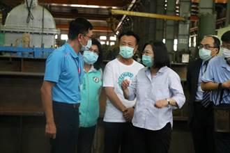 蔡英文總統參訪三太造機廠 業者盼扶植國造