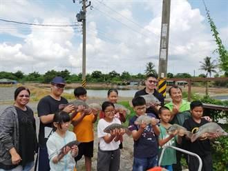 新二代FUN暑假 麻豆漁場現撈台灣鯛做大餐