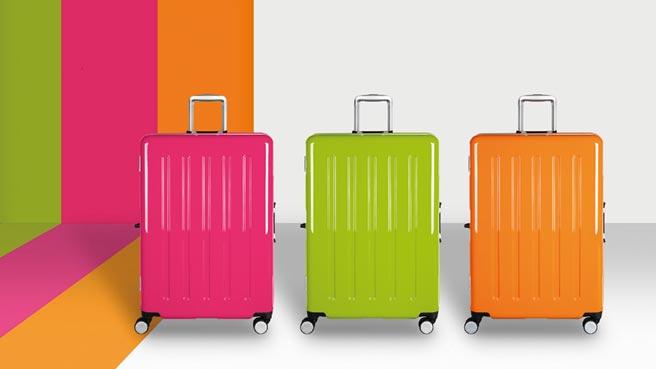 CROWN C-FD133(薄荷綠 荷蘭橘 珠光桃紅)糖果盒系列旅行箱。圖/業者提供