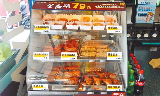 全家冷凍店型3.0現做料理「FAMI HOT食堂」,販售唐揚雞塊、紐奧良辣味雞翅等。(全家提供)