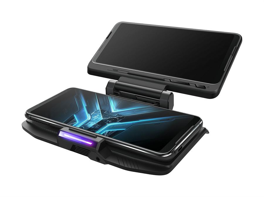 華碩ROG TwinView Dock 3可延伸手機顯示螢幕面積,呈現真144 Hz雙螢幕遊戲視界。(華碩提供)