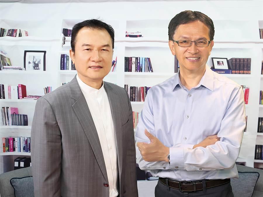 理財周刊發行人洪寶山(左)、蔣榮先(右)。(圖/理財周刊提供)