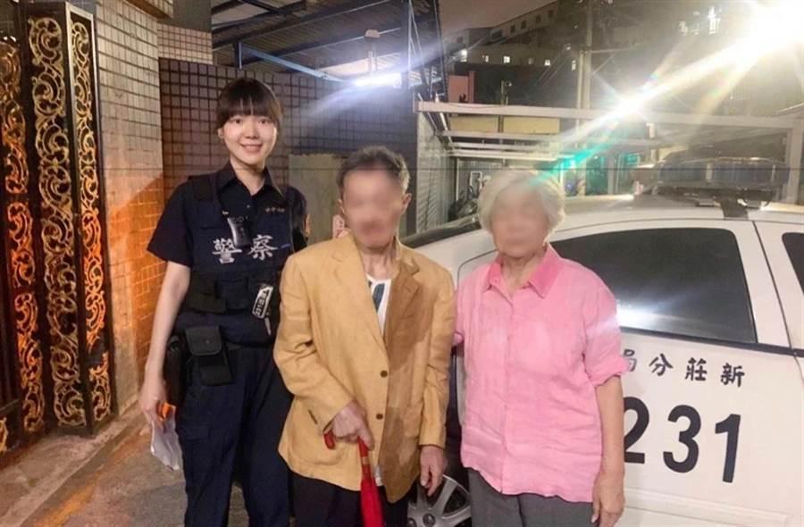 身高180!新莊最美女警送失智男回家 仙氣讓媽好驚艷(圖/警方提供)