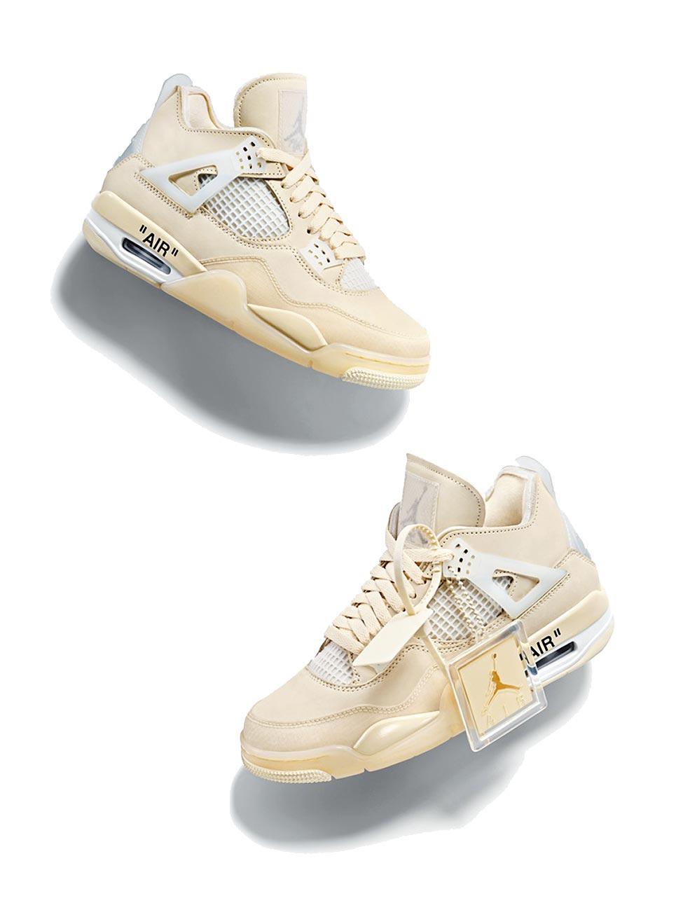 Jordan Brand推出Air Jordan 4 Off-White女子專屬鞋款,於今(25)日開賣,定價7200元。(Nike提供)