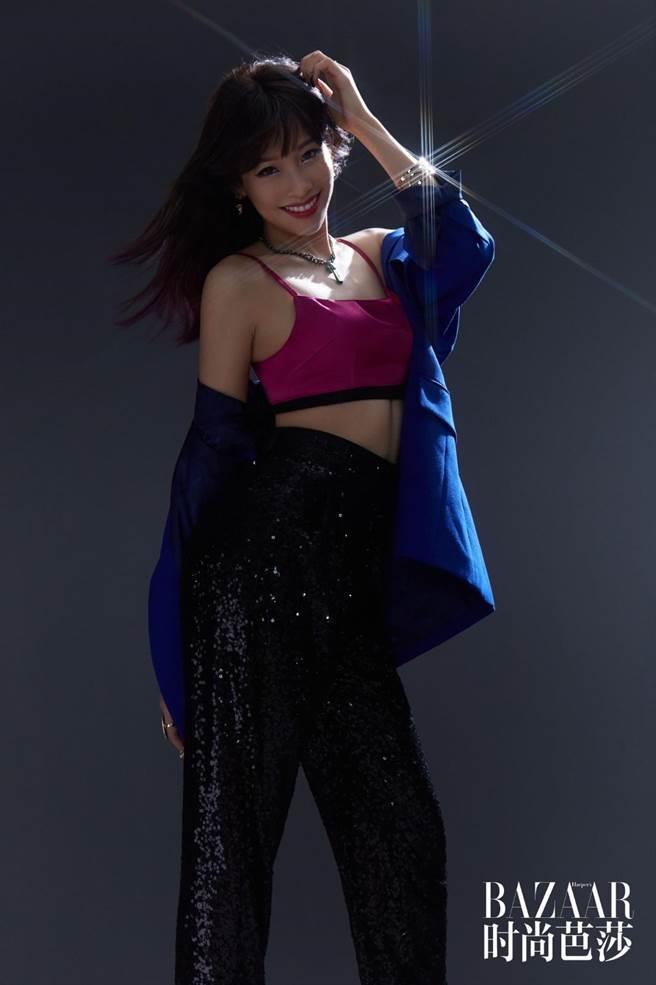 袁詠琳以性感帥氣造型登上時尚雜誌。《乘風破浪的姐姐》提供