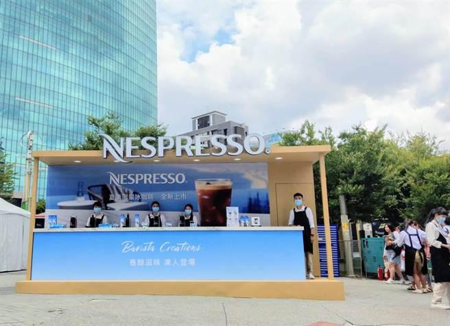 瑞士咖啡品牌Nespresso,7月25至26日於台中草悟廣場限時登場打造「夏日凍感降溫實驗室」(Nespresso提供/馮惠宜台中傳真)