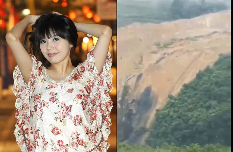 劉樂妍先前自曝老家淹水。(圖/中時資料照片;翻攝自劉樂妍微博)