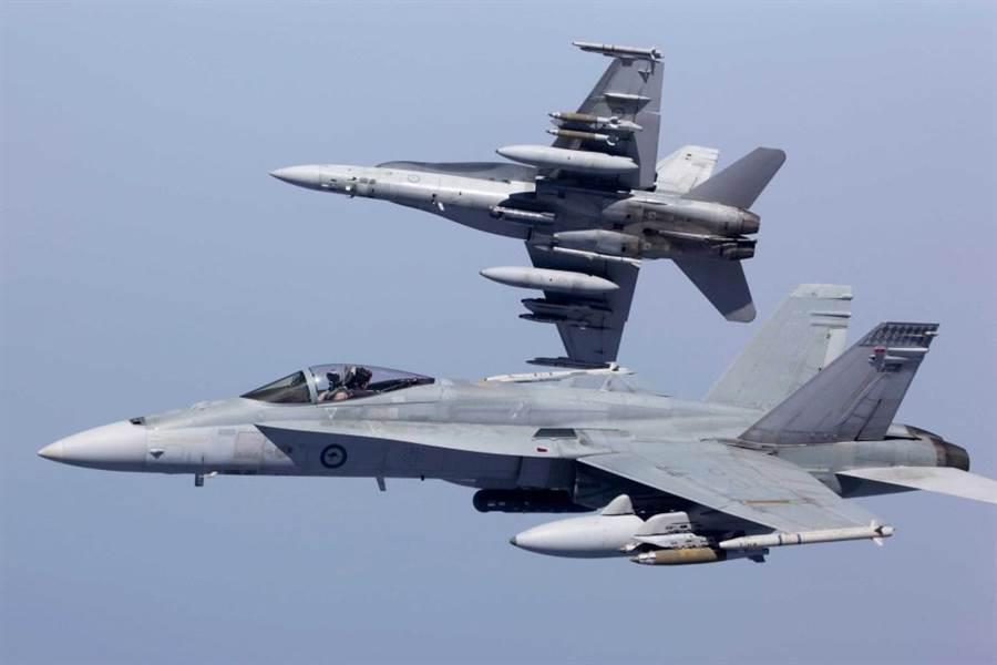 澳洲皇家空軍F/A-18A戰機。(圖/澳洲皇家空軍)