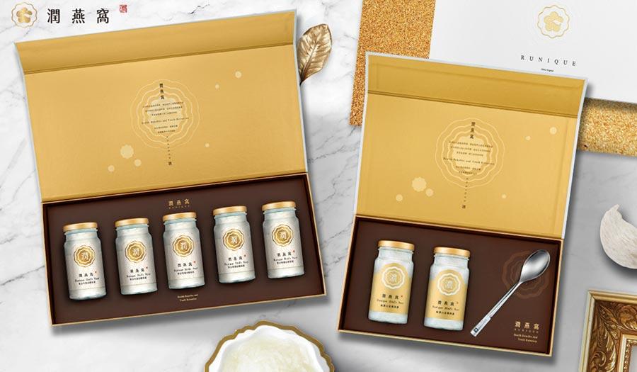 父親節將至,購買頂級燕窩禮盒,獻給爸爸雙倍的愛;圖為黃金特潤冰糖燕窩禮盒(左)、24K極濃白金潤燕盞禮盒(右)。圖/業者提供