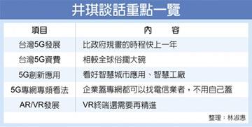 遠傳總經理井琪:台灣5G發展超前部署