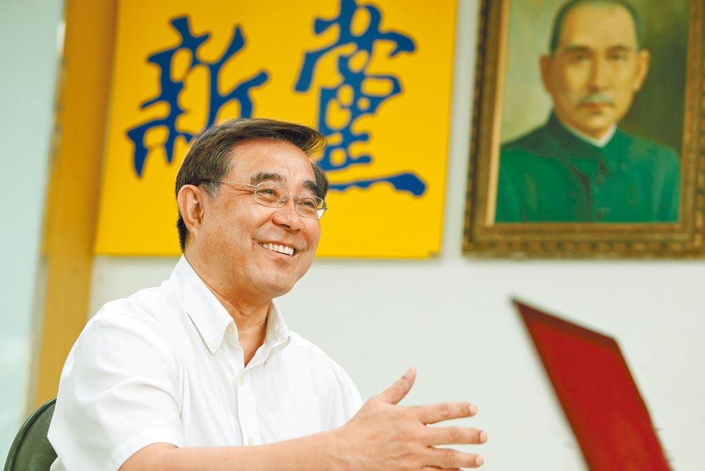 新黨主席吳成典。(鄭任南攝)