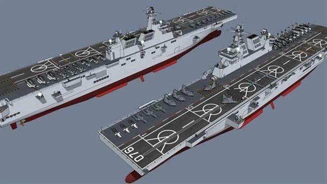 076兩棲攻擊艦示意圖。(網路)