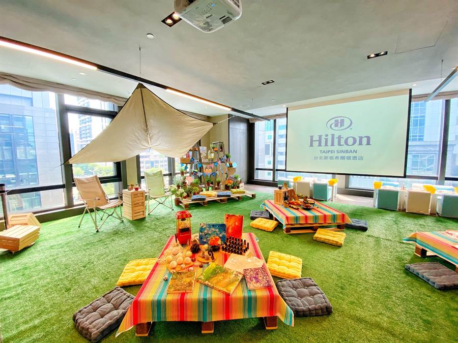 台北新板希爾頓酒店推出「希式FUN瘋~涼夏野餐趣」頗受親子旅客的歡迎。圖/台北新板希爾頓酒店提供