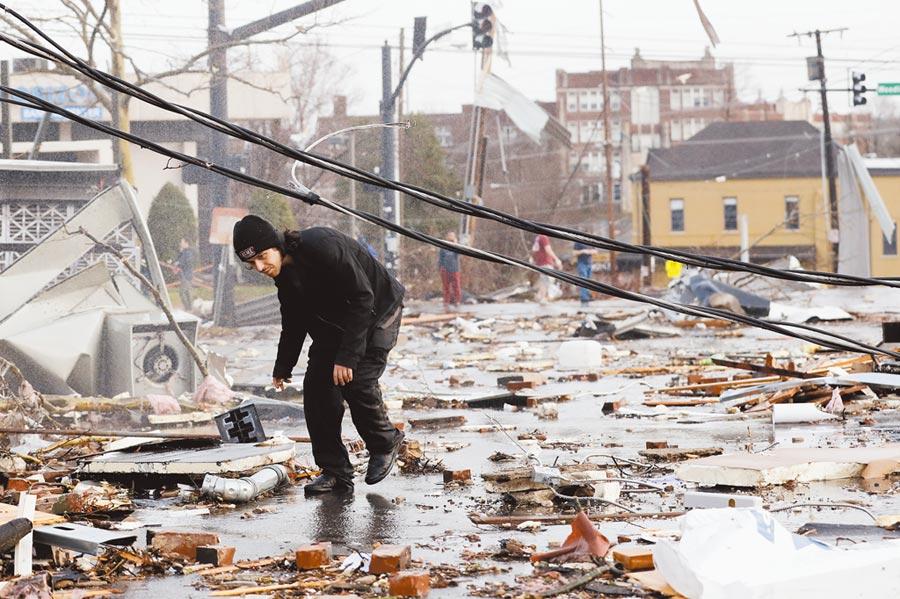 美國天氣巨災飆新高圖╱美聯社