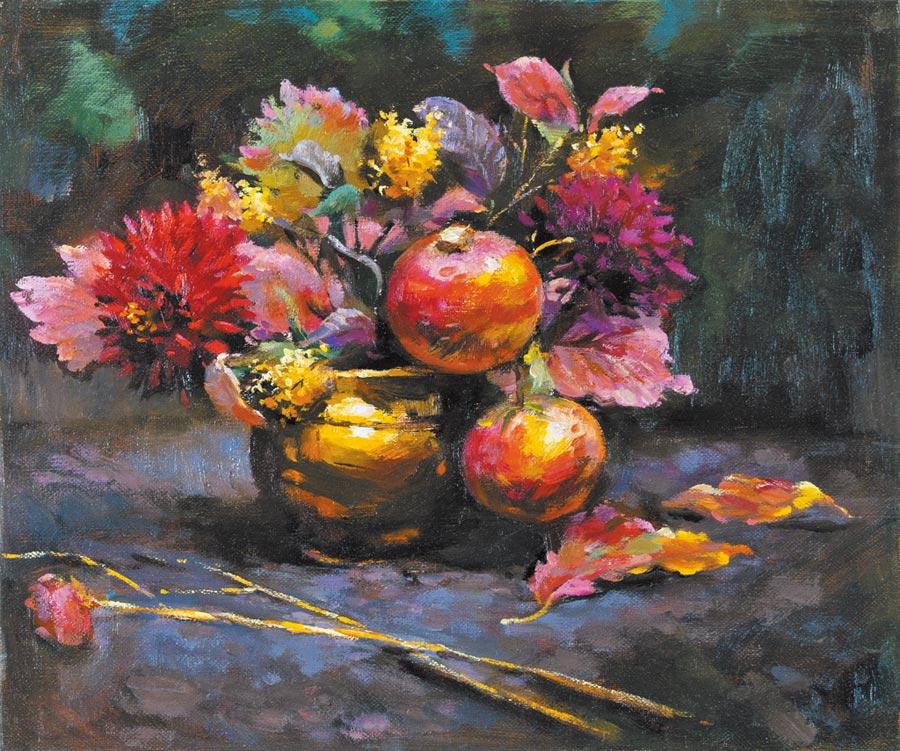 胡瓊櫻,《風華》,布面油彩,38×43.5cm,2019。圖片提供/胡瓊櫻