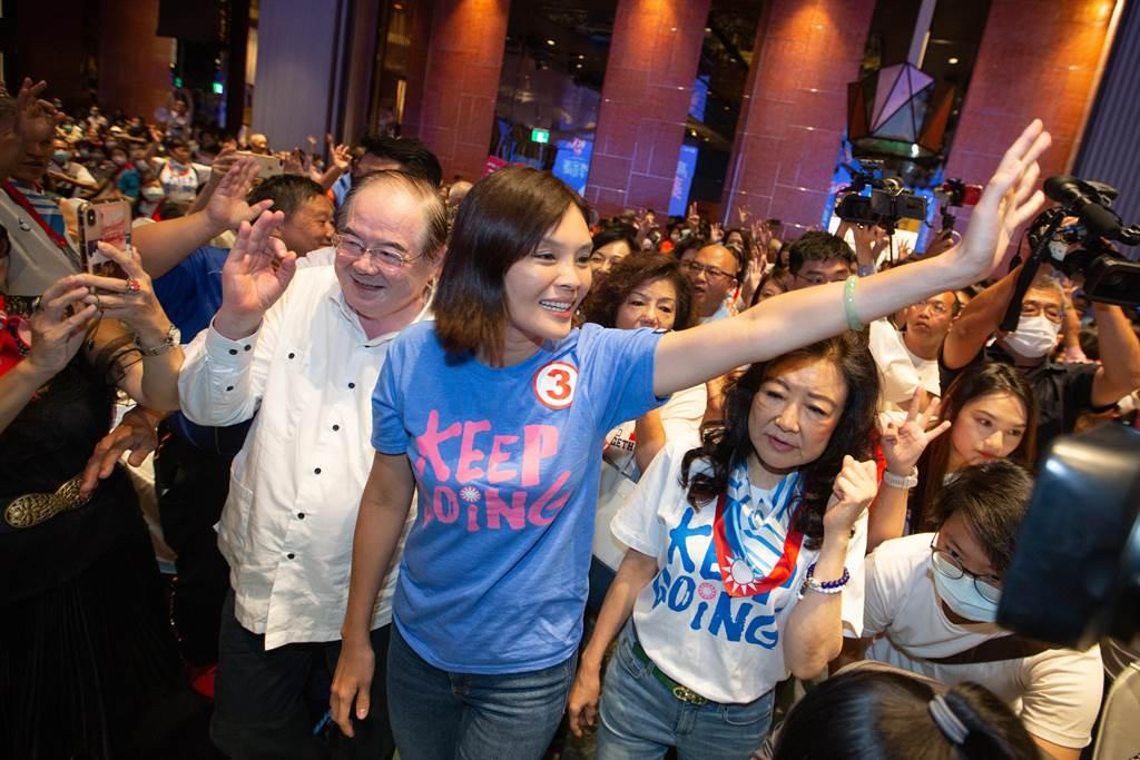 高雄市长补选国民党候选人李眉蓁。(资料照,袁庭尧摄)