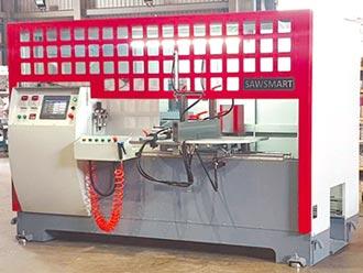 八軸全自動鋁材切斷機 冠盛:一台抵多台