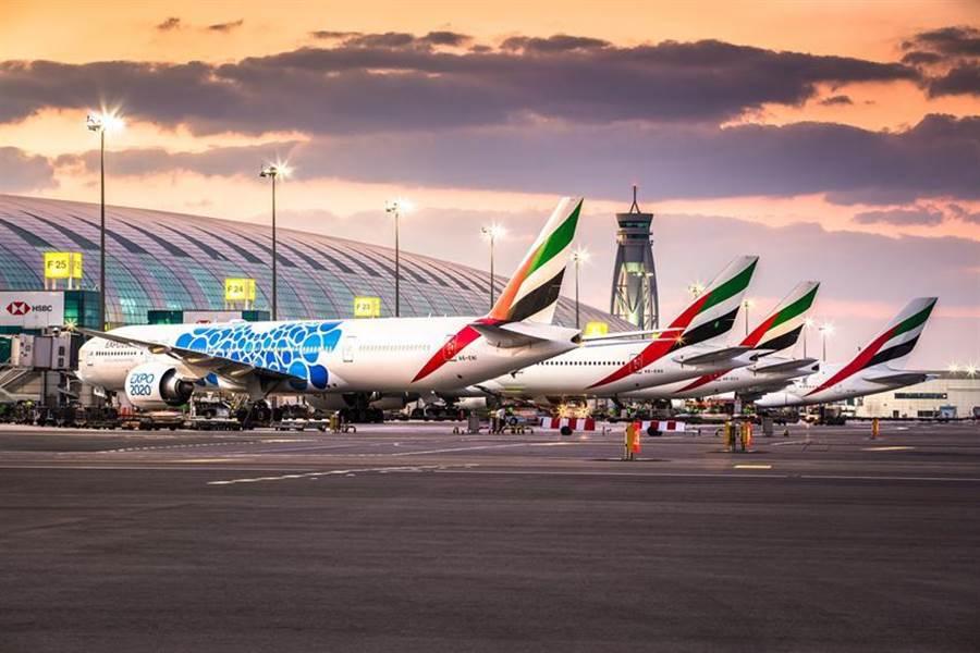 (目前外籍航空公司當中,僅有阿聯酋航空復飛台北客運航線。圖/業者提供)