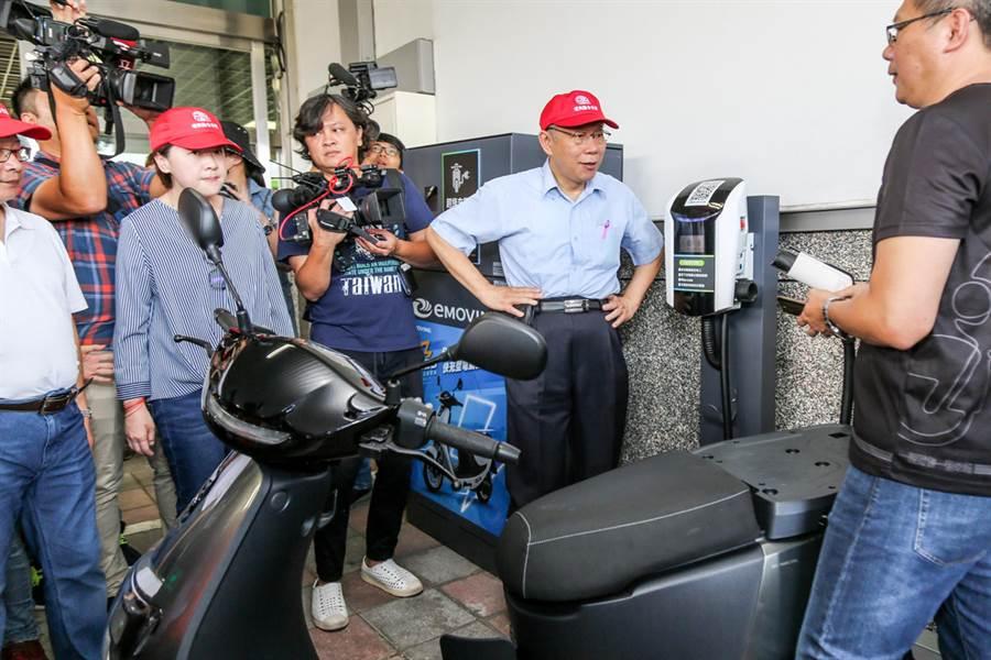 目前環南市場有四座超級快充站供攤商頭家使用