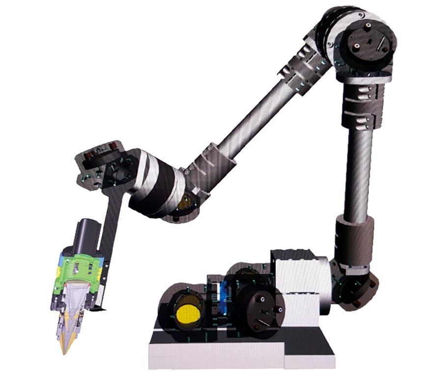 佳興外掛式萬向軸雷射切割機。        圖/佳興提供