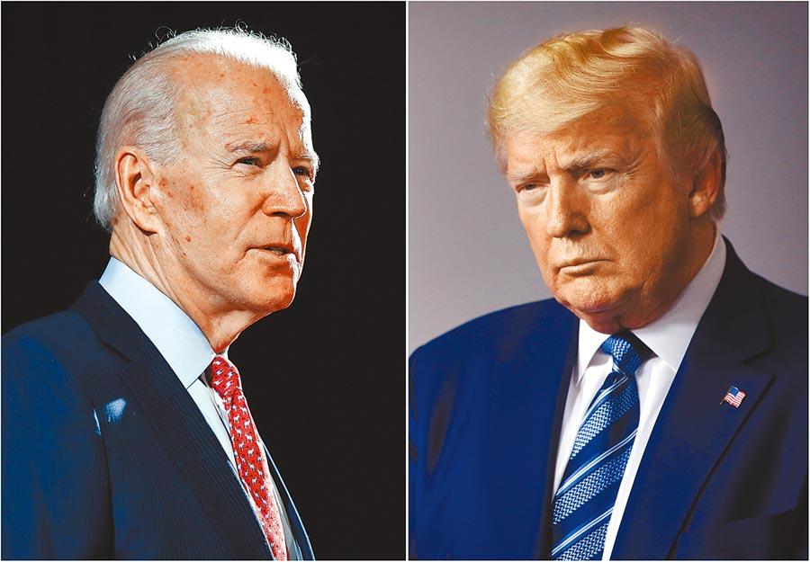 根據最新民調,民主黨總統候選人拜登在3個關鍵搖擺州(佛羅里達,密西根,亞利桑那)都領先現任總統川普。(美聯社)