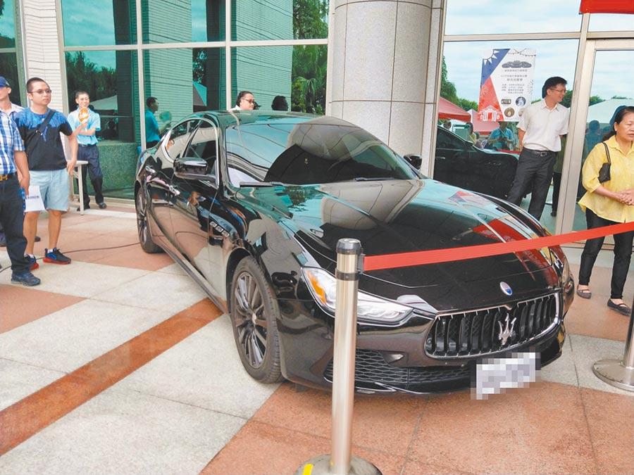 台南地檢署、行政執行署台南分署去年曾拍賣義大利瑪莎拉蒂海神名車(MASERATI Ghibli)。(本報資料照片)