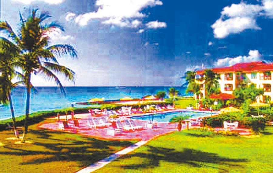 開曼曾因租稅優勢成為富人天堂。圖為開曼群島海濱別墅。(本報系資料照片)