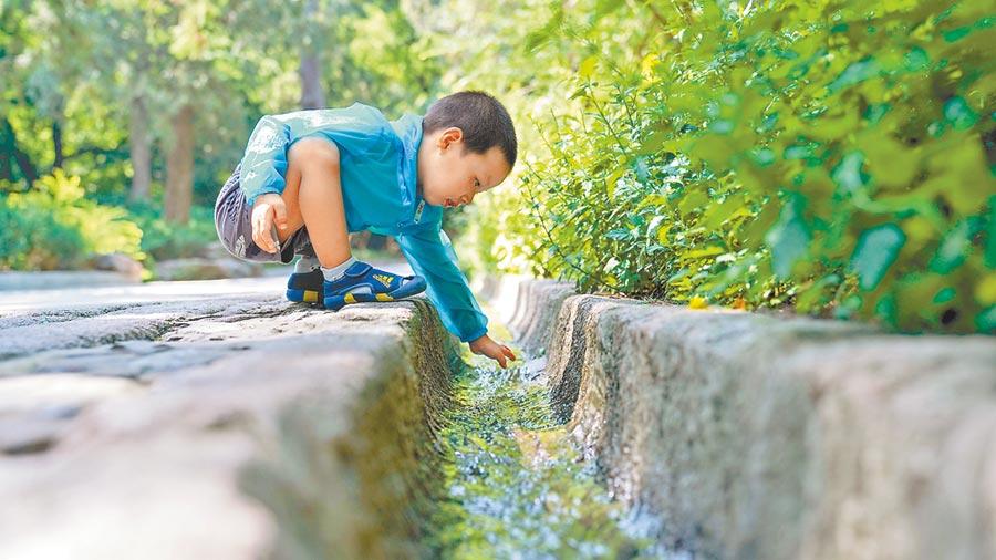 修復後的古水系。(趙澤熙攝)