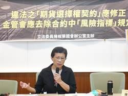 時力立委:保障期貨投資人權益 金管會應訂定合理補繳期限