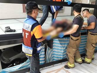 台南油漆工臟器外露 全身刀傷墜樓命危