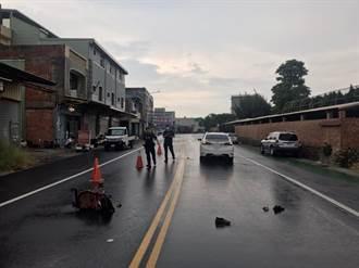 通霄老婦推孫過馬路 遭車撞頭部重創身亡
