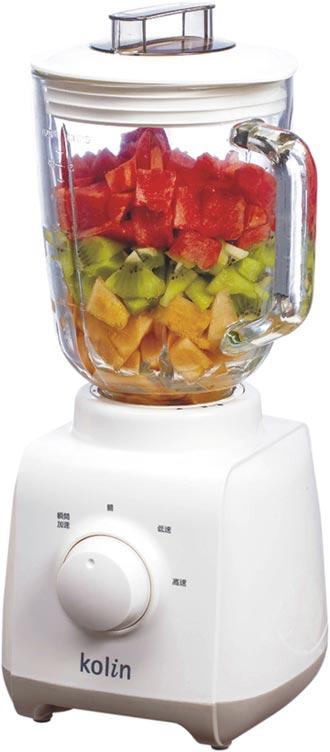 歌林1.5L玻璃冰沙果汁機 清涼上市